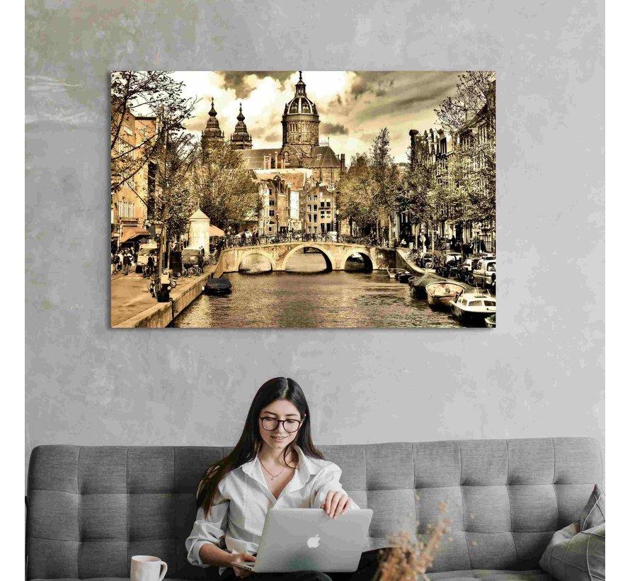 Plexiglas schilderij grote stad
