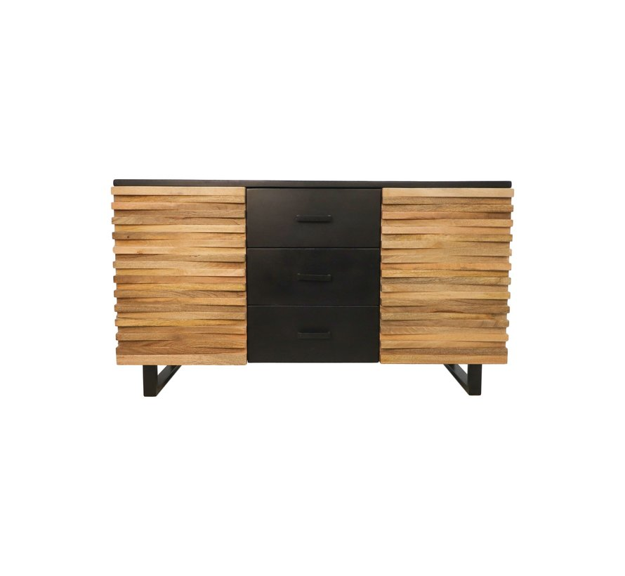 Sideboard Lille - 150 cm - acaciahout/ijzer