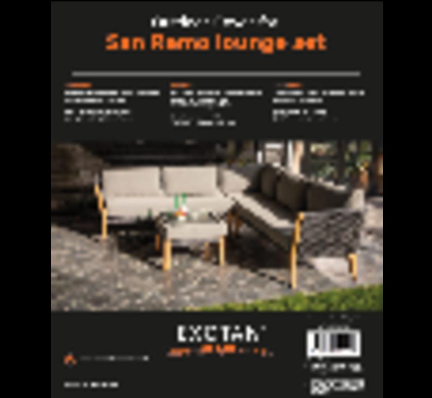 San Remo lounge cover set, 1dlg zwart