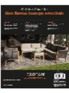 Exotan San Remo lounge armchair cover set, 1dlg zwart
