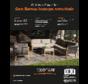 San Remo lounge armchair cover set, 1dlg zwart