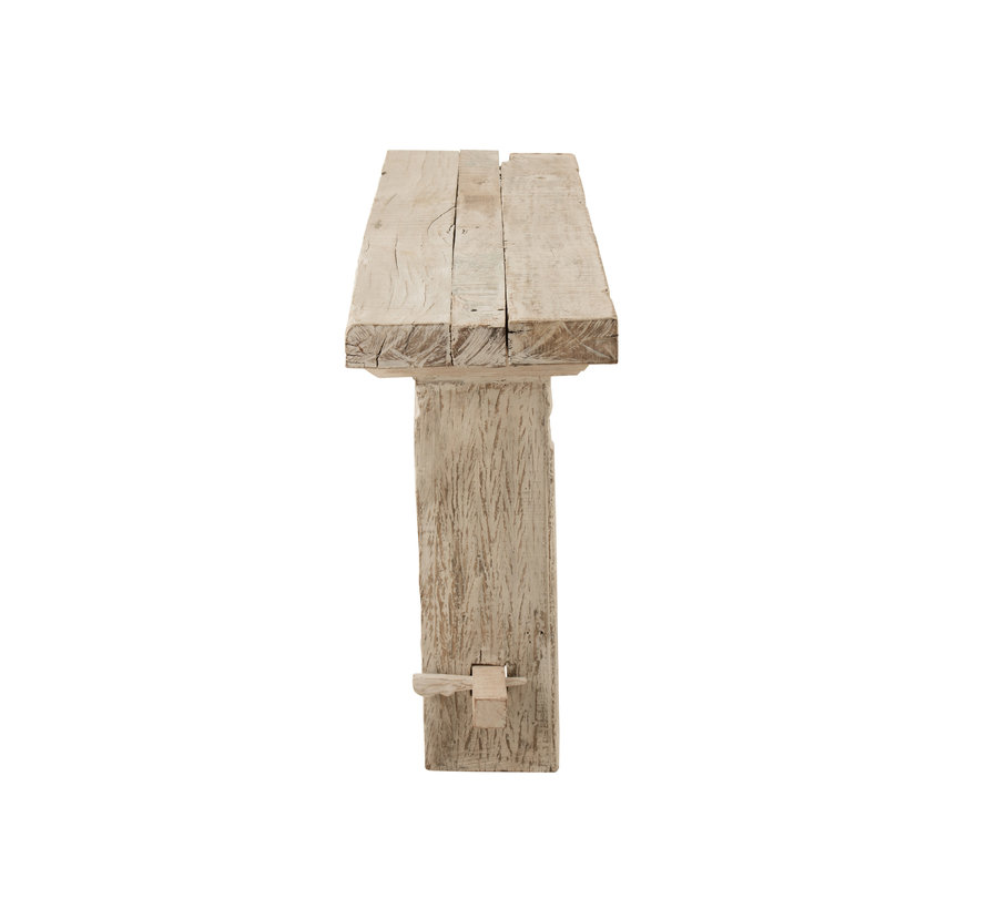 console brut gerecycleerd hout white wash