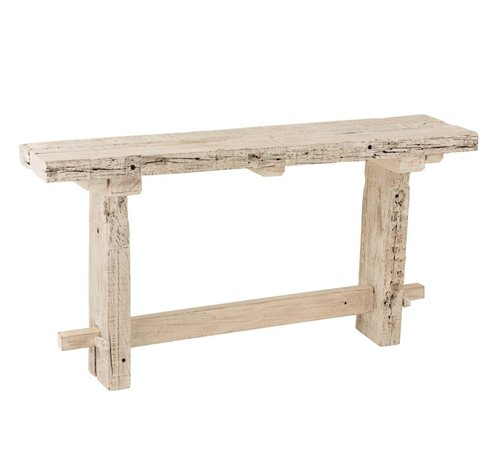 J-Line console brut gerecycleerd hout white wash