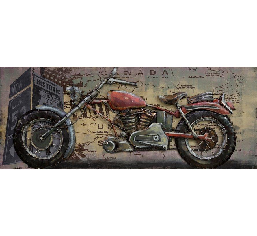 3d Schilderij metaal Chopper