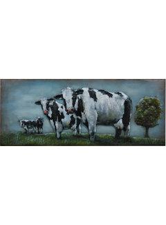 3d Schilderij metaal Koeien