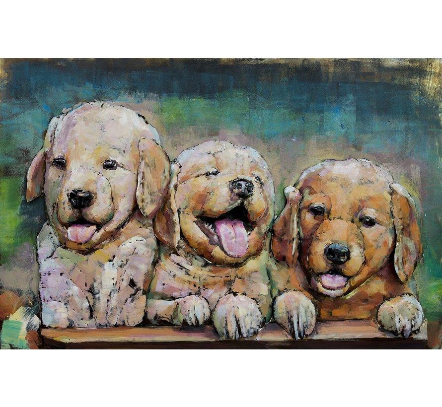 3d Schilderij metaal Puppy