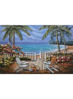 3d Schilderij metaal Palmbomen