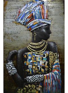 3d Schilderij metaal African style