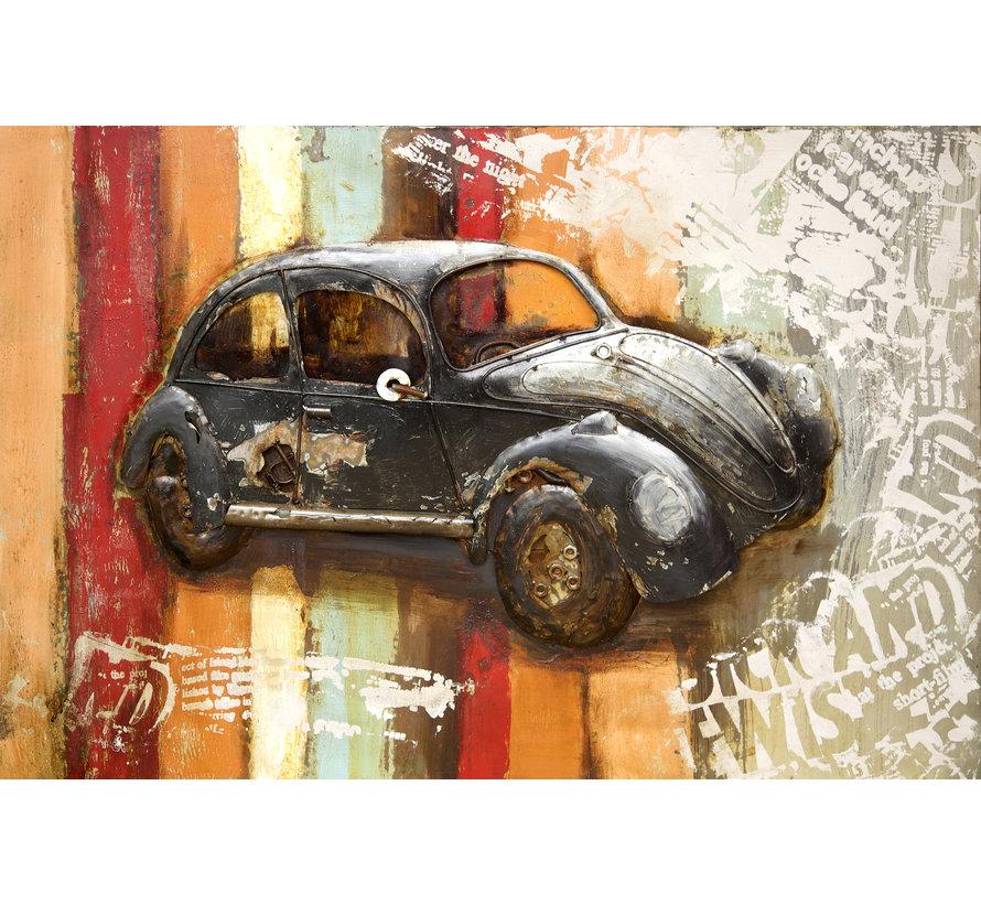 3d Schilderij metaal Kever