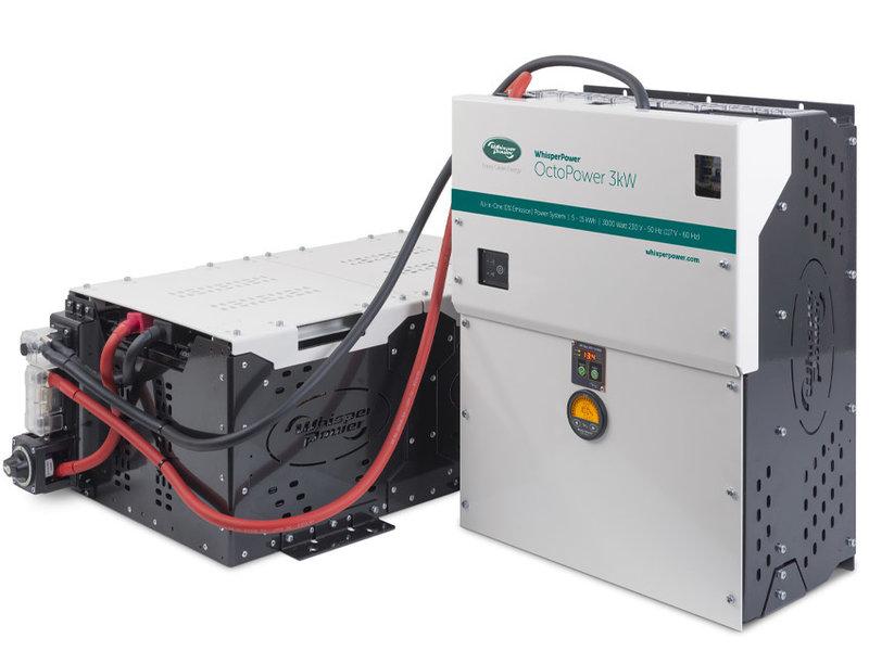 Whisperpower OctoPower 3 kW - Todo en un sistema de energía