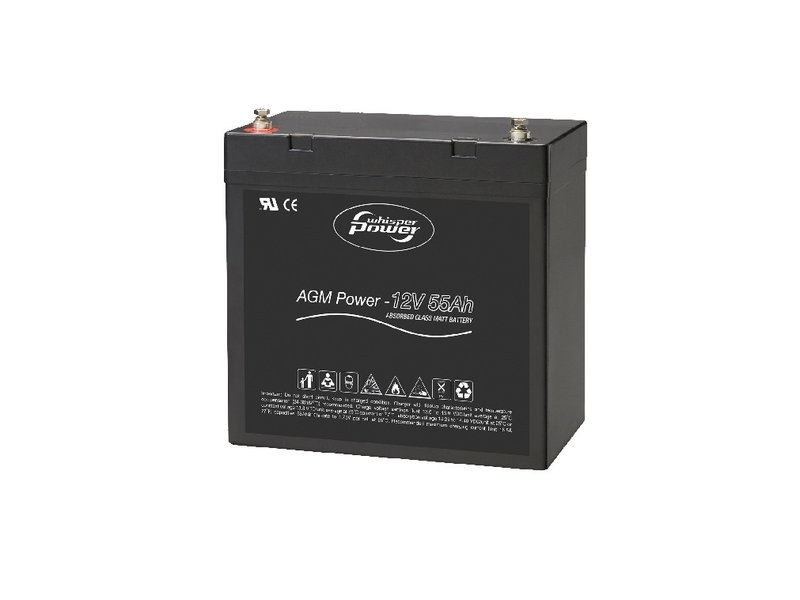 Whisperpower AGM Batería de arranque 12 V - 55 Ah