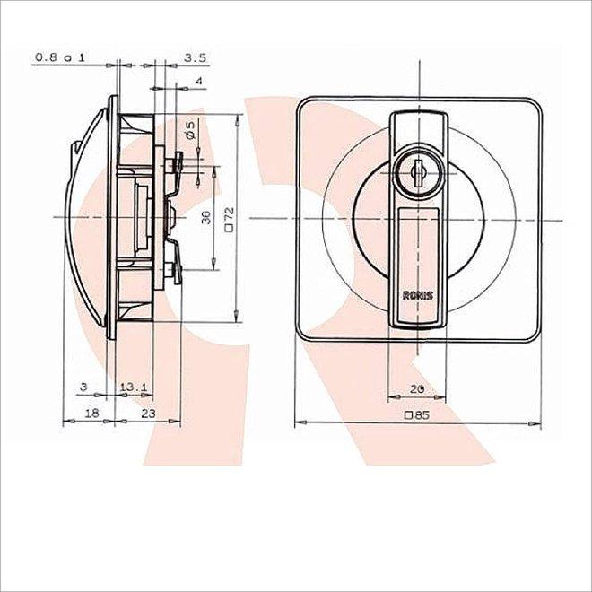 AFLC RONIS cilinderslot (verschillend nummer)