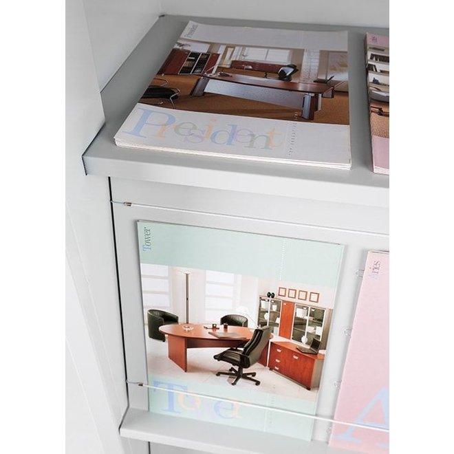Tijdschriftkast / Folderkast AMGC.FS.2 195x100x42 cm