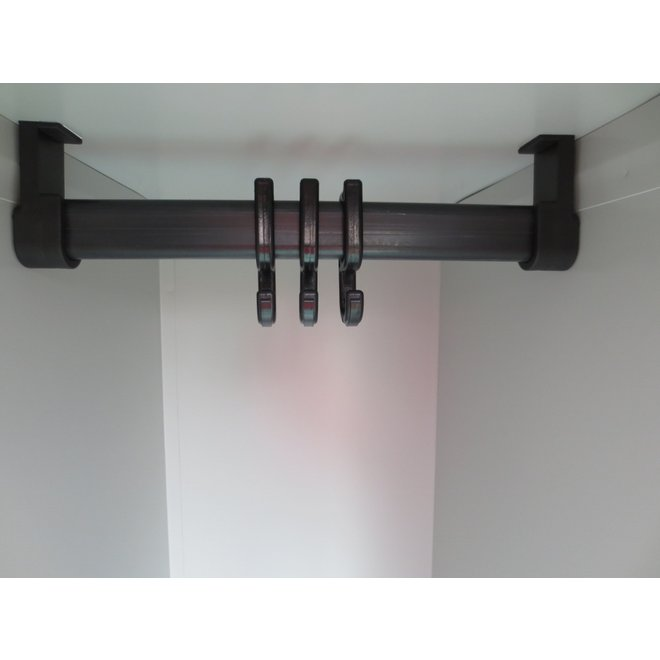 A-Locker 2 deurs Grijs Met 5 Legplanken En 1 Hangroede
