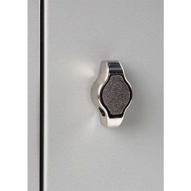 A-Locker 2 deurs Wit Met 5 Legplanken En 1 Hangroede