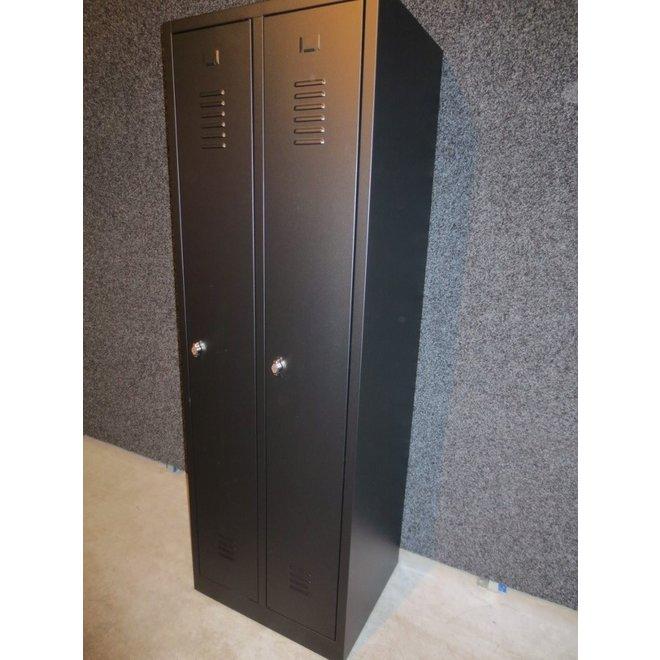 A-Locker 2 deurs Zwart (4+1)