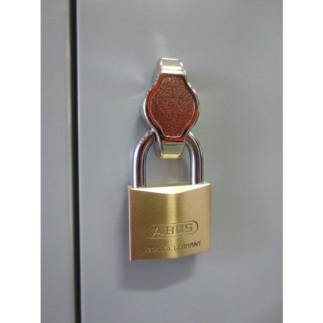 A-Locker 2 deurs Grijs Met 8 Legplanken