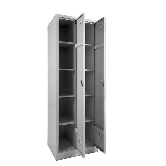 A-Locker 2 deurs Grijs (4+4)