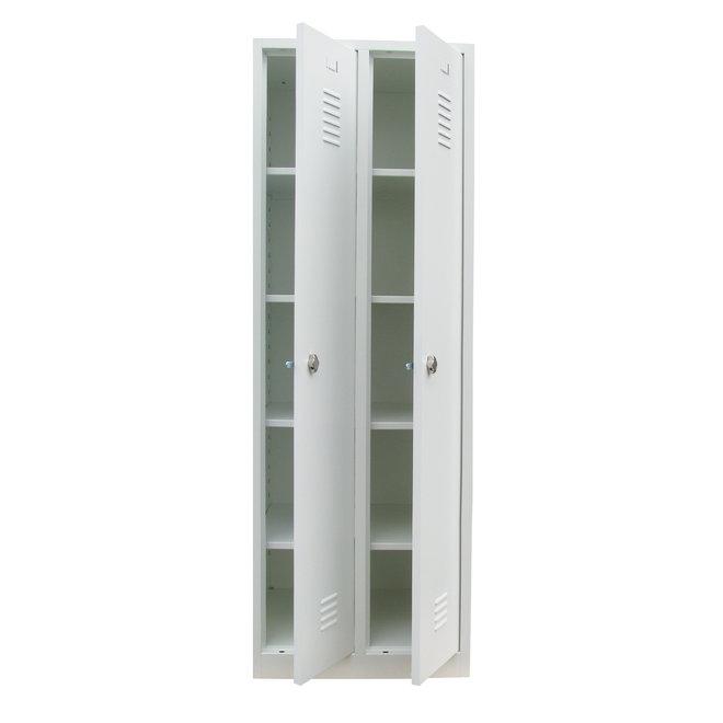 A-Locker 2 deurs Wit Met 8 Legplanken