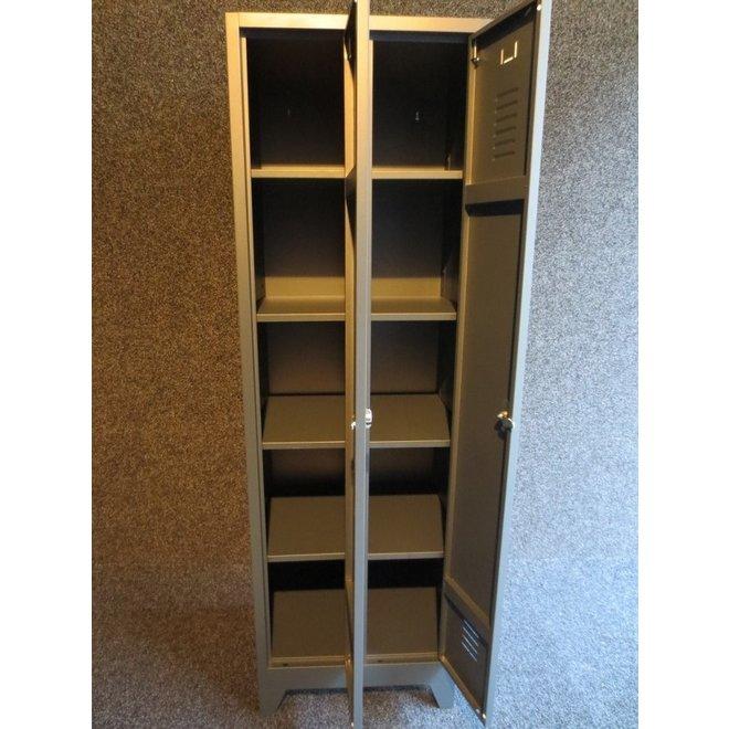 A-Locker 2 deurs Antraciet Met 8 Legplanken