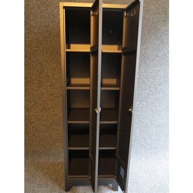 A-Locker 2 deurs Zwart (4+4)