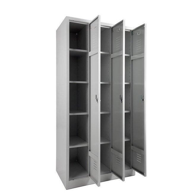 A-Locker 3 deurs Wit (4+4+4)