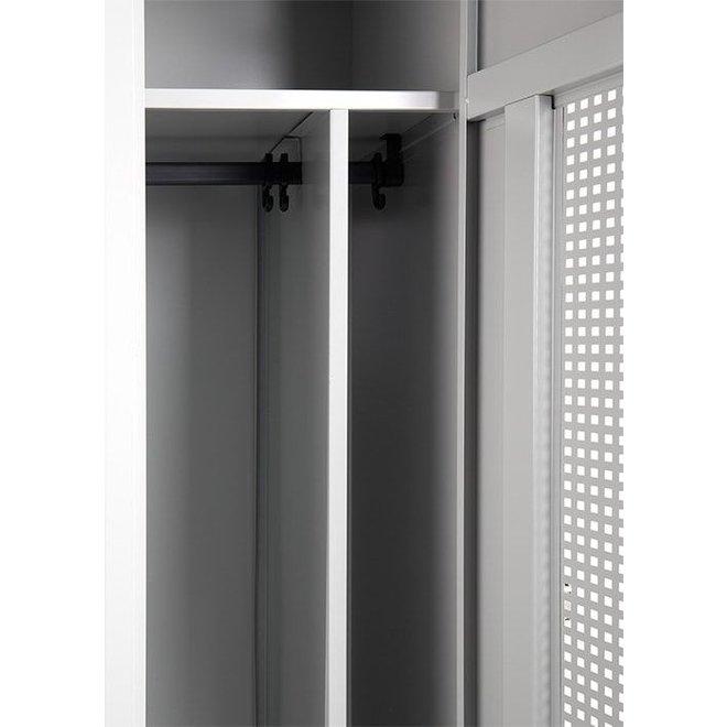 Garderobekast AWRD.1 Met 1 Deur En Schoon-/Vuil Indeling