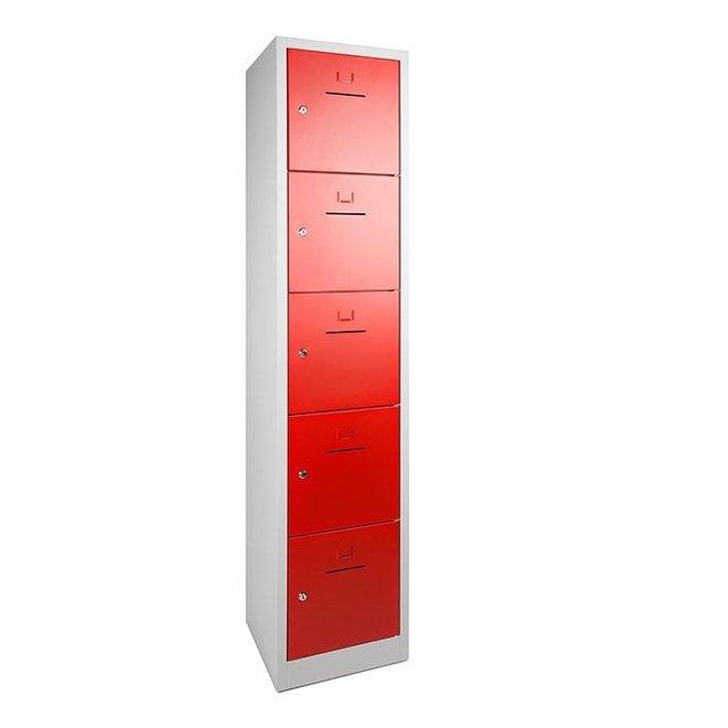 Lockerkast ASHC.5 Model 1 Koloms En 5 Deuren