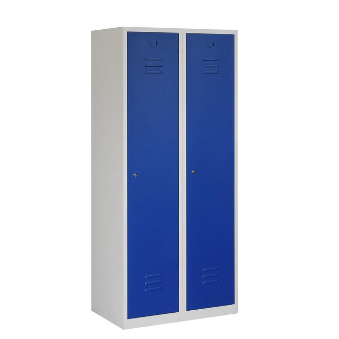 Locker 2-deurs ARHT.2.2.GR/BL Kolom 40 cm Breed
