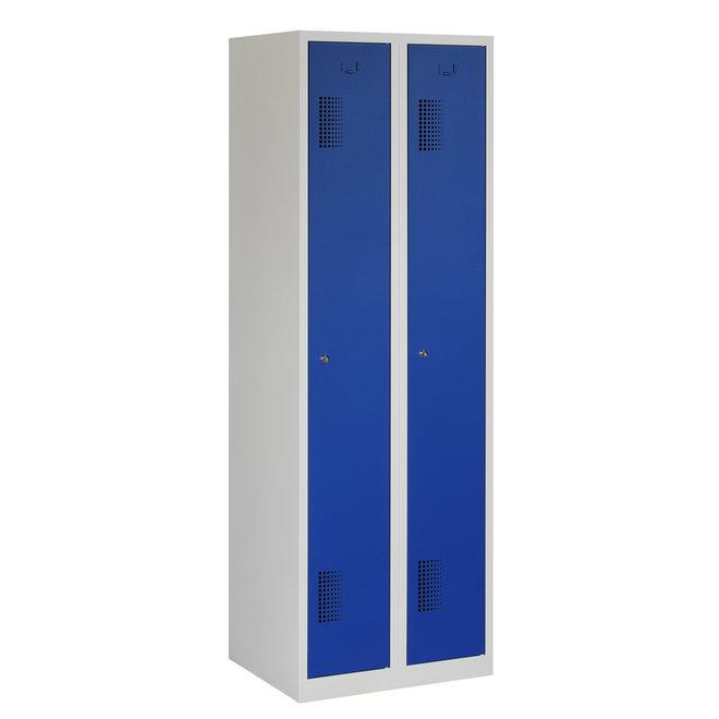 Locker 2-deurs ANH.2.2.GR/BL Kolom 30 cm Breed