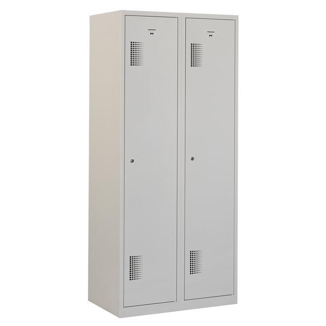 Locker 2-deurs ANHT.2.2.GR/GR Kolom 40 cm Breed