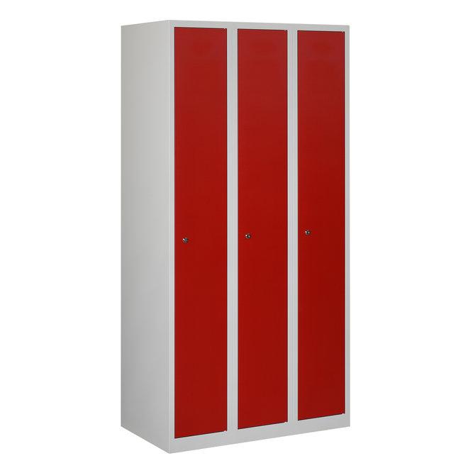 Locker 3-deurs APH.3.3.GR/RO Kolom 30 cm Breed