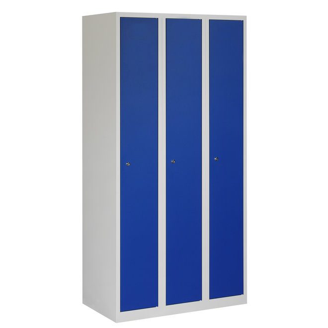 Locker 3-deurs APH.3.3.GR/BL Kolom 30 cm Breed