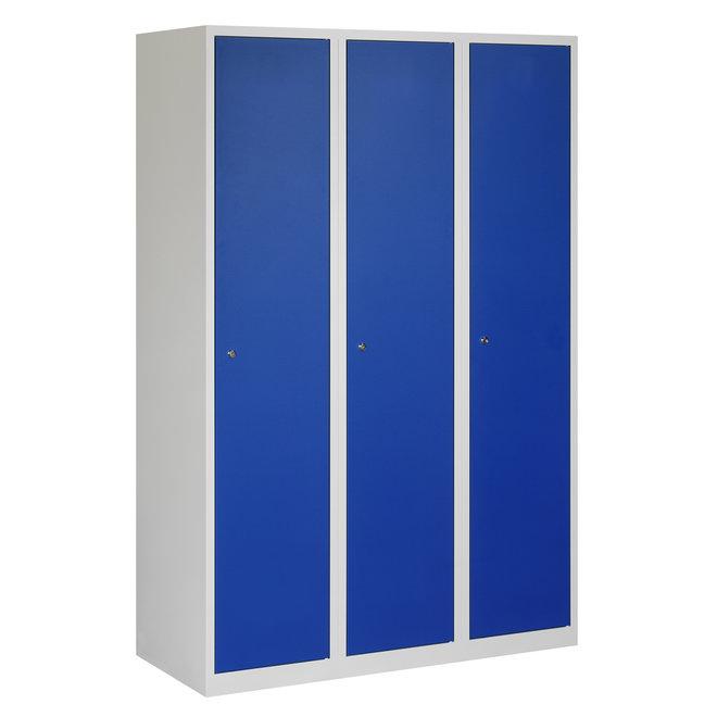 Locker 3-deurs APHT.3.3.GR/BL Kolom 40 cm Breed