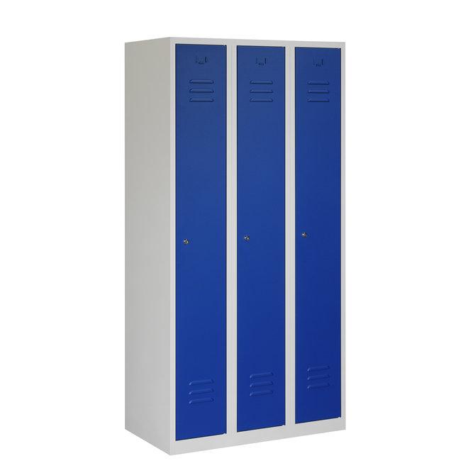 Locker 3-deurs ARH.3.3.GR/BL Kolom 30 cm Breed