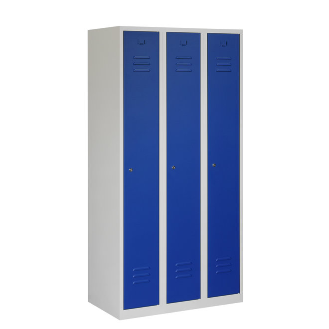 Locker 3-deurs ARH.3.3.GR/BL K30