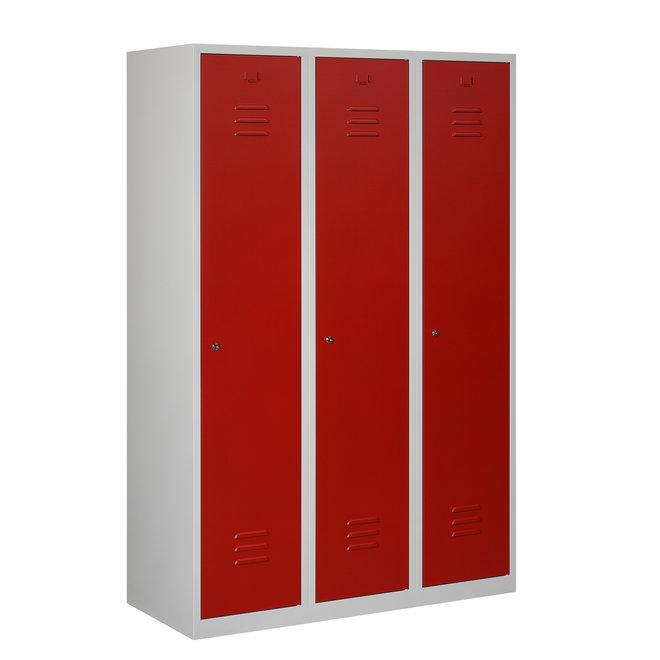 Locker 3-deurs ARHT.3.3.GR/RO Kolom 40 cm Breed