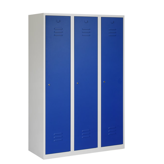 Locker 3-deurs ARHT.3.3.GR/BL Kolom 40 cm Breed