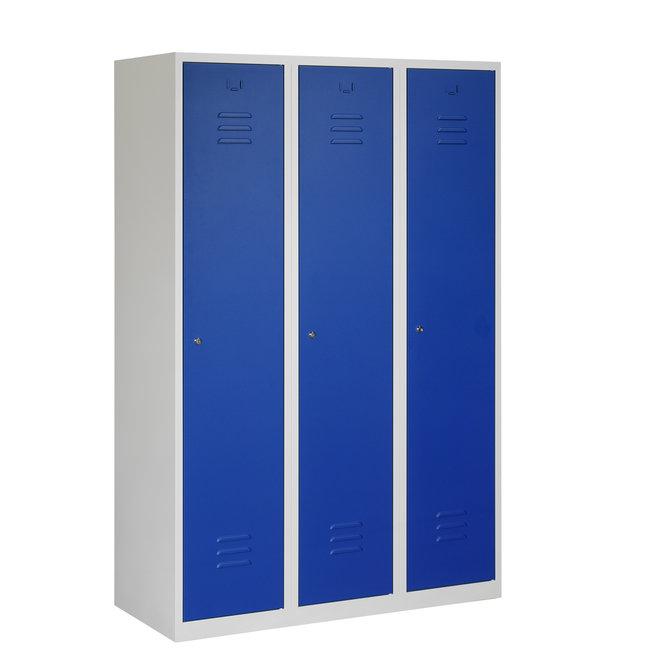 Locker 3-deurs ARHT.3.3.GR/BL K40