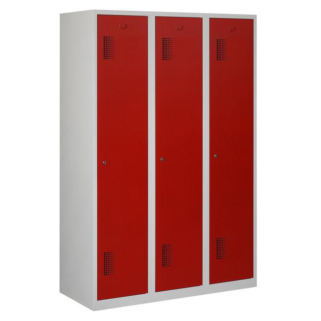 Locker 3-deurs ANHT.3.3.GR/RO Kolom 40 cm Breed