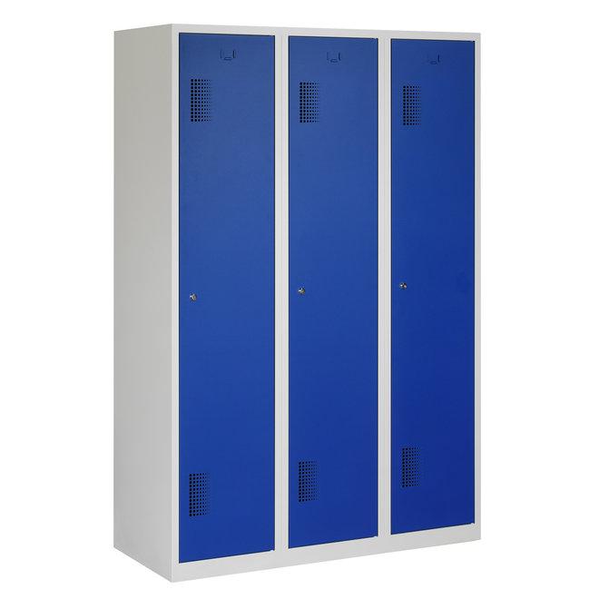 Locker 3-deurs ANHT.3.3.GR/BL Kolom 40 cm Breed