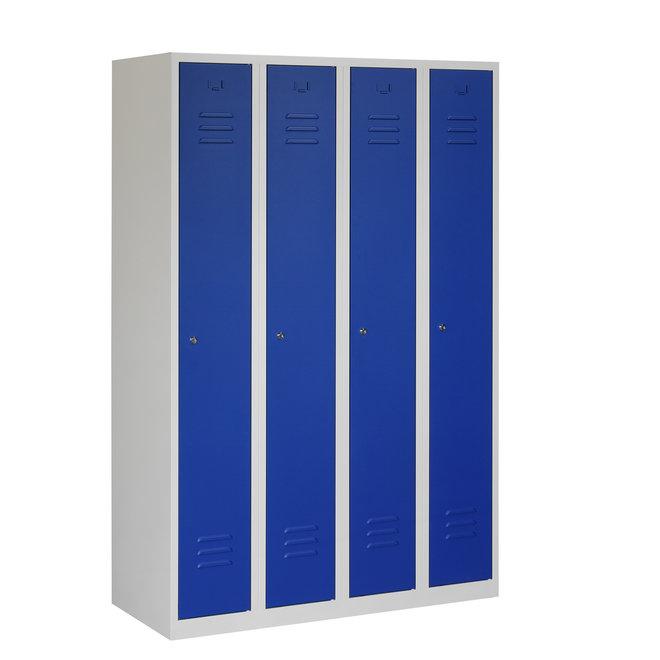Locker 4-deurs ARH.4.4.GR/BL Kolom 30 cm Breed