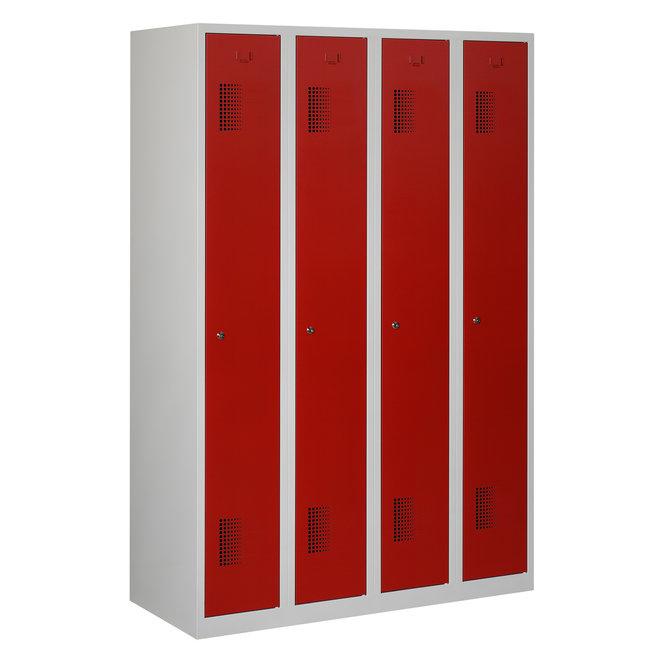 Locker 4-deurs ANH.4.4.GR/RO Kolom 30 cm Breed