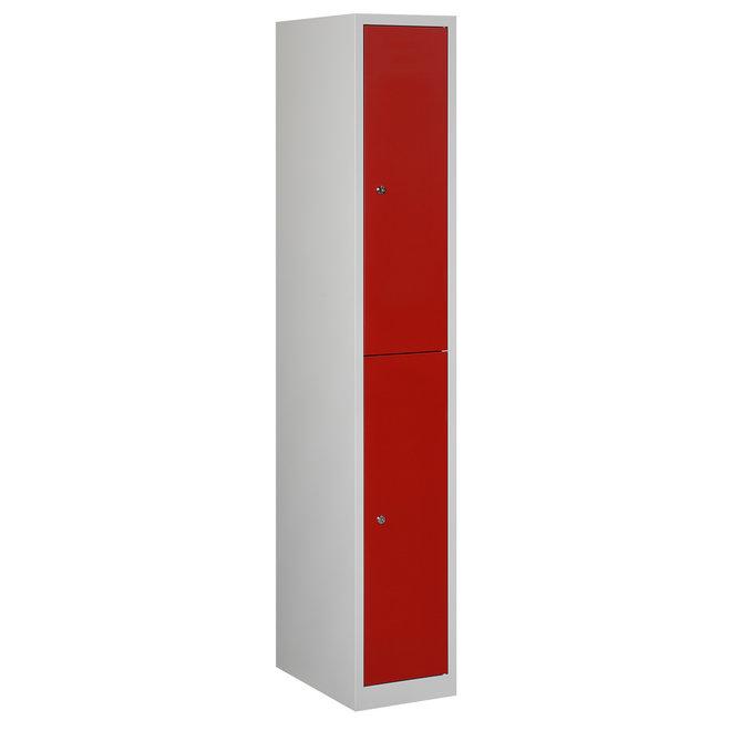 Locker 2-deurs APH.1.2.GR/RO Kolom 30 cm Breed