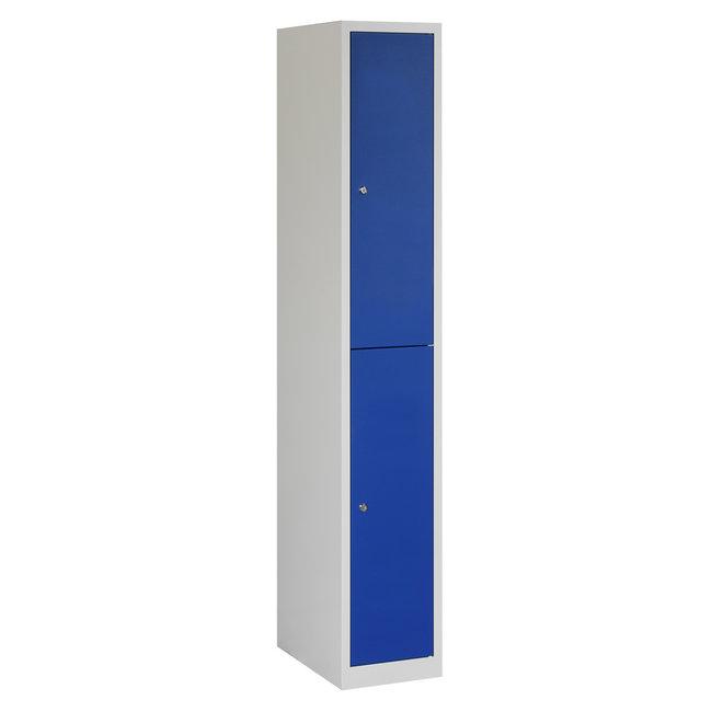 Locker 2-deurs APH.1.2.GR/BL Kolom 30 cm Breed