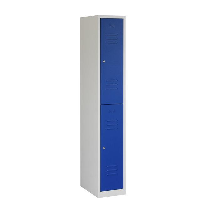 Locker 2-deurs ARH.1.2.GR/BL Kolom 30 cm Breed