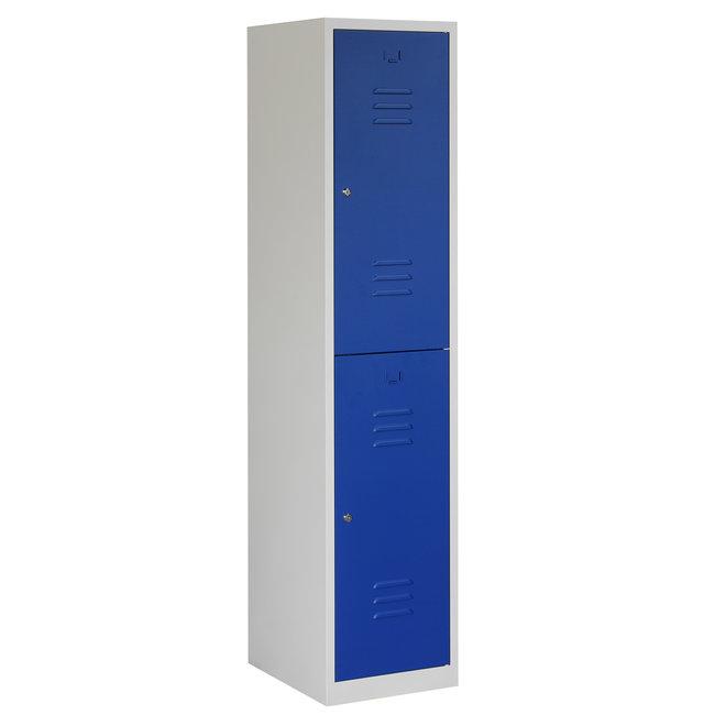 Locker 2-deurs ARHT.1.2.GR/BL Kolom 40 cm Breed