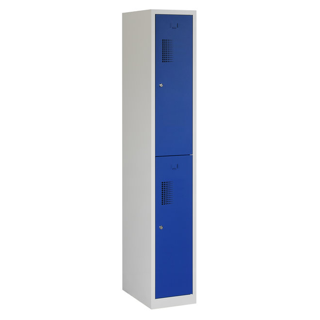 Locker 2-deurs ANH.1.2.GR/BL Kolom 30 cm Breed