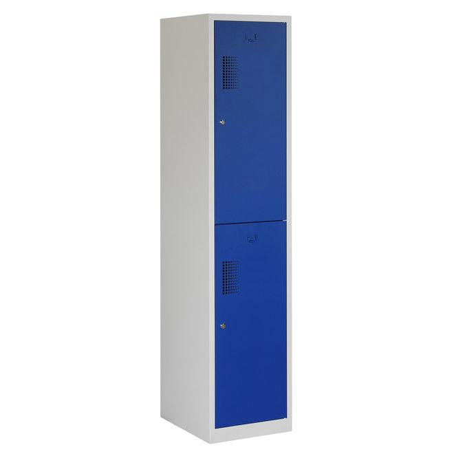Locker 2-deurs ANHT.1.2.GR/BL Kolom 40 cm Breed