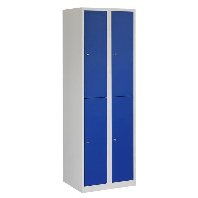 Locker 4-deurs APH.2.4.GR/BL Kolom 30 cm Breed